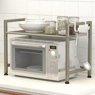 Nicolette Microwave Oven Steel Baker's Rack by Rebrilliant