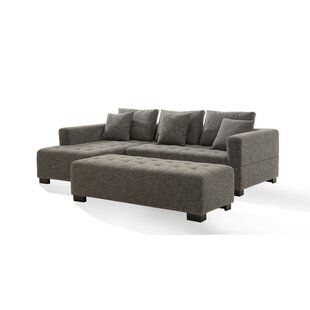 Fit Sectional With Ottoman by Modern Design International Great price