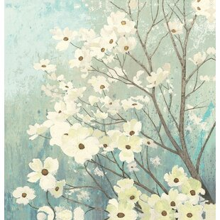 Oretha Dogwood Blossoms Shower Curtain by Red Barrel Studio