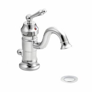 Moen Waterhill Single Hole Bathroom Faucet with Optional Pop-Up Drain