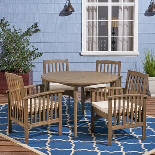 Restivo 5 Piece Dining Set with Cushions ..