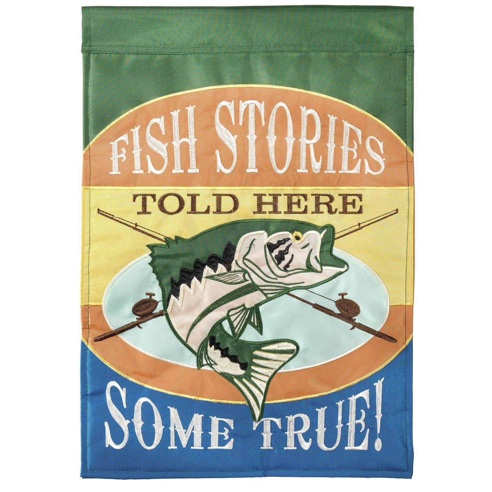 Dicksonsinc Fish Stories 2 Sided Polyester 18 X 13 In Garden Flag Wayfair