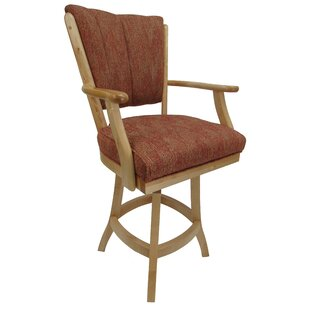 Malcom Classic 26 Swivel Bar Stool Millwood Pines