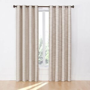Filomena Solid Max Blackout Thermal Grommet Single Curtain Panel