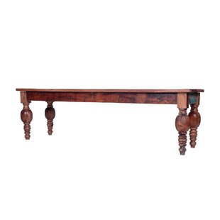 Joshi Rustic Dining Wood Bench by Bloomsbury Market