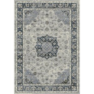 Attell Oriental Gray Area Rug