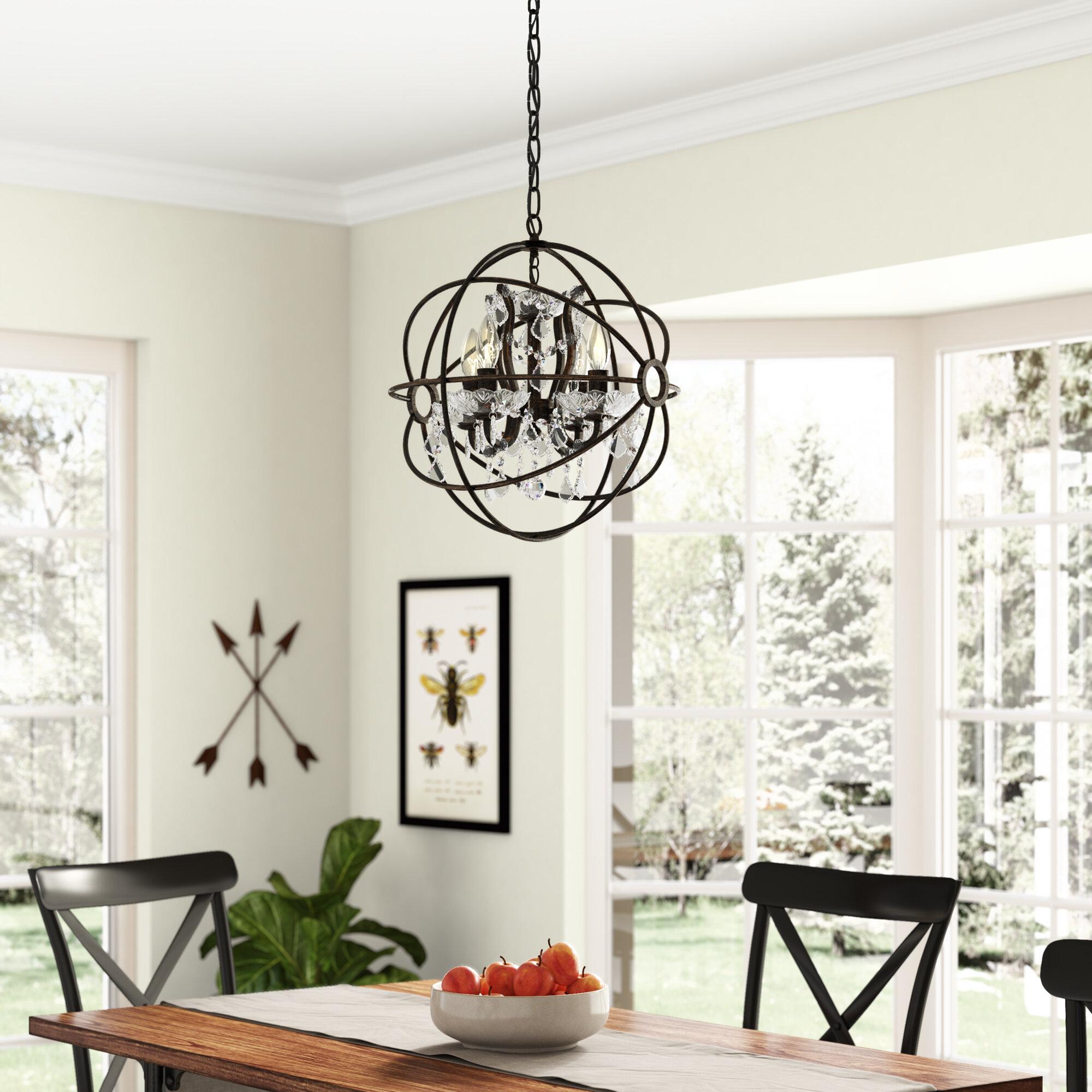 Gracie Oaks Leung 4 Light Globe