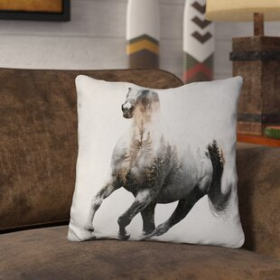 Lemanski Galloping Horse Throw Pillow