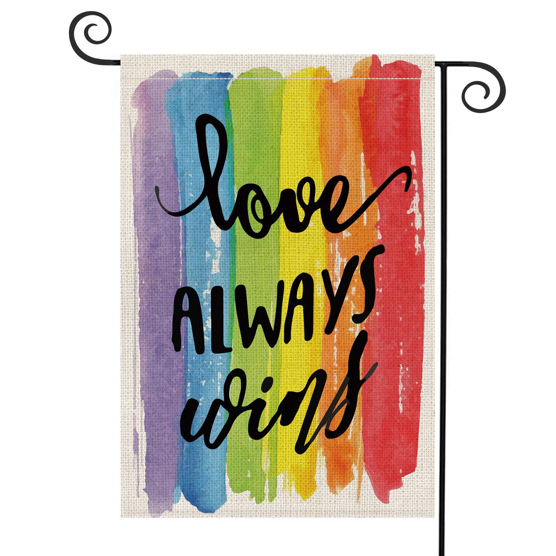 Avoin Colorlife Love Always Wins 2 Sided Burlap 18 X 13 In Garden Flag Wayfair