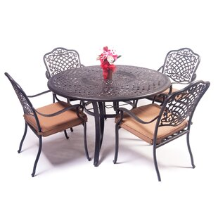 Goggin 5 Piece Dining Set with Cushions
