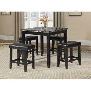 Blythe 5 Piece Counter Height Dining Set by ACME Furniture