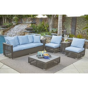 Ivy Bronx Sarver 6 Piece Rattan Sofa Set with Cushions