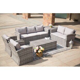 Brooten Outdoor 6 Piece Sofa Seating Group with Cushions