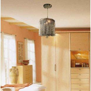 Everly Quinn Bouwkamp Crystal Socket Brass Ceiling 2 Light Semi Flush Mount