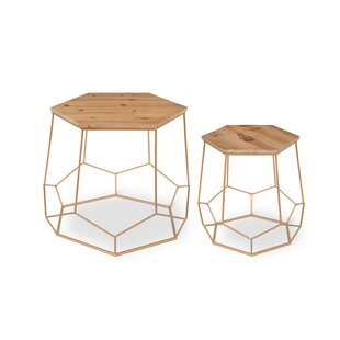 Inexpensive Burton Geometric 2-Piece Nesting Tables By Brayden Studio