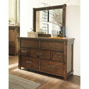 Gracie Oaks Mattalyn 7 Drawer Dresser with Mirror