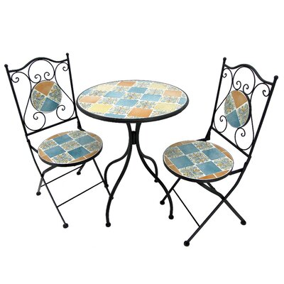 Glasco 3 Piece Bistro Set by Fleur De Lis Living Today Only Sale