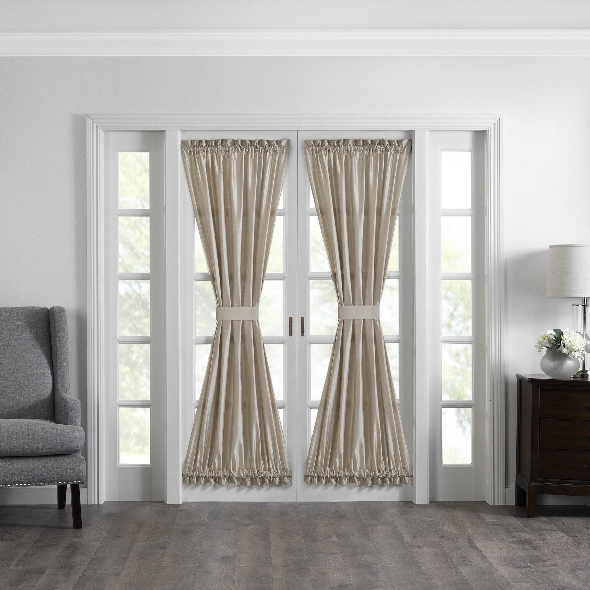 Canora Grey Mullan Solid Semi Sheer Thermal Rod Pocket French Door Curtain Reviews