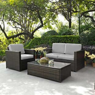 Belton 3 Piece Rattan Sofa Set with Cushions