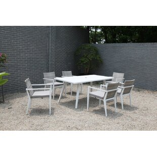 Corrigan Studio Esteban 7 Piece Dining Set with Cushions