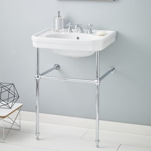 Mayfair Metal 25 inch  Console Bathroom Sink with Overflow