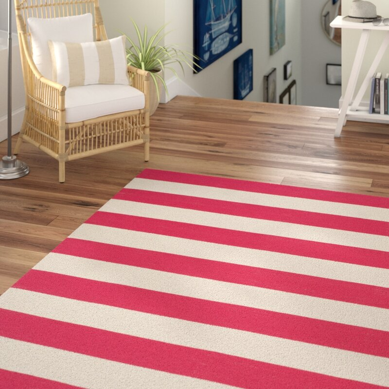 Brookvale Hand Woven Cotton Red White Area Rug