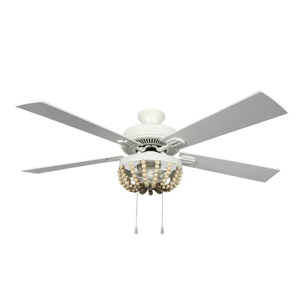 Dakota Fields 52 5 Blade Outdoor Standard Ceiling Fan With Pull Chain And Light Kit Included Reviews Wayfair Ca