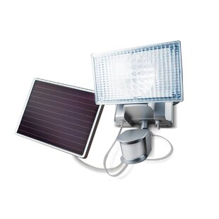 Ebern Designs Geren Modern Solar Power Dusk to Dawn Battery Operated Outdoor Security Flood Light with Motion Sensor (Pack of 1)