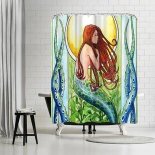 East Urban Home Sam Nagel Kelp Forest Mermaid Shower Curtain