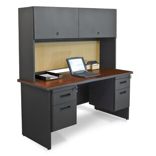 High-End Pronto Executive Desk with Hutch by Marvel Office Furniture
