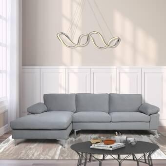 Rosdorf Park Jemima 115 Wide Velvet Reversible Sleeper Sofa Chaise Reviews Wayfair