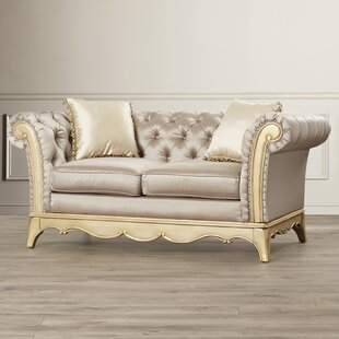 Bainbridge Chesterfield Loveseat by Astoria Grand