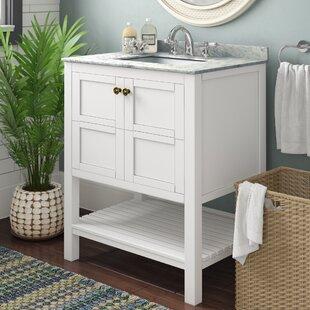 Small White Bathroom Vanity | Wayfair