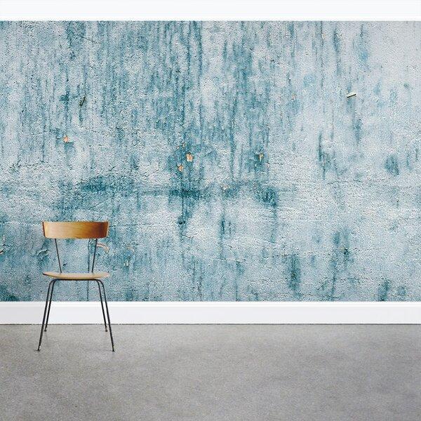 ... Wall Mural. Chipped Blue Concrete 8u0027 X 144 Part 86
