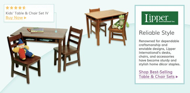 Lipper International. Featured Categories. Kids Table \u0026 Chair Sets  sc 1 st  Wayfair & Lipper International | Wayfair