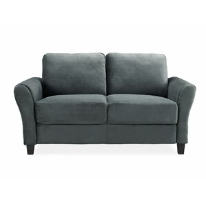 patricia loveseat - Black Leather Loveseat