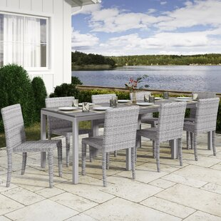 Killingworth 11 Piece Outdoor Dining Set by Rosecliff Heights