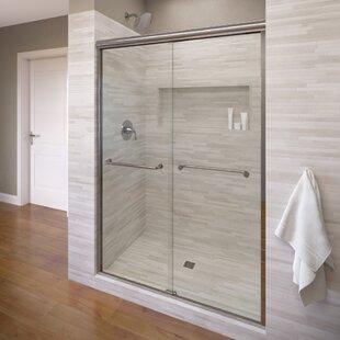 Glass sliding shower door wayfair infinity 655 x 40 frameless bypass sliding shower door planetlyrics Images