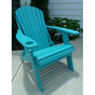Ibrahim Plastic Folding Adirondack Chair