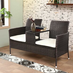 Lutie Rattan Seating Group with Cushion by Wrought Studio