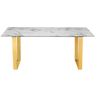 Compare Vonnie Marble Dining Table ByEverly Quinn