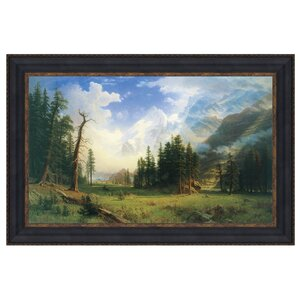 Mountain Landscape, 1895 Framed Painting Print on Canvas
