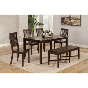 Leonardo Acacia Wood 6 Piece Dining Set