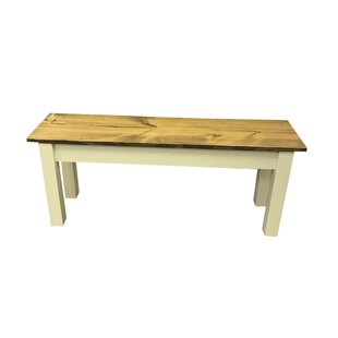 Galindo Wood Bench by August Grove