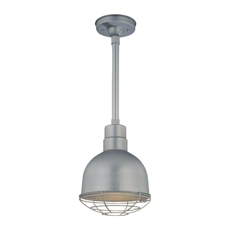 Fitzhugh 1-Light Metal Kitchen Inverted Pendant
