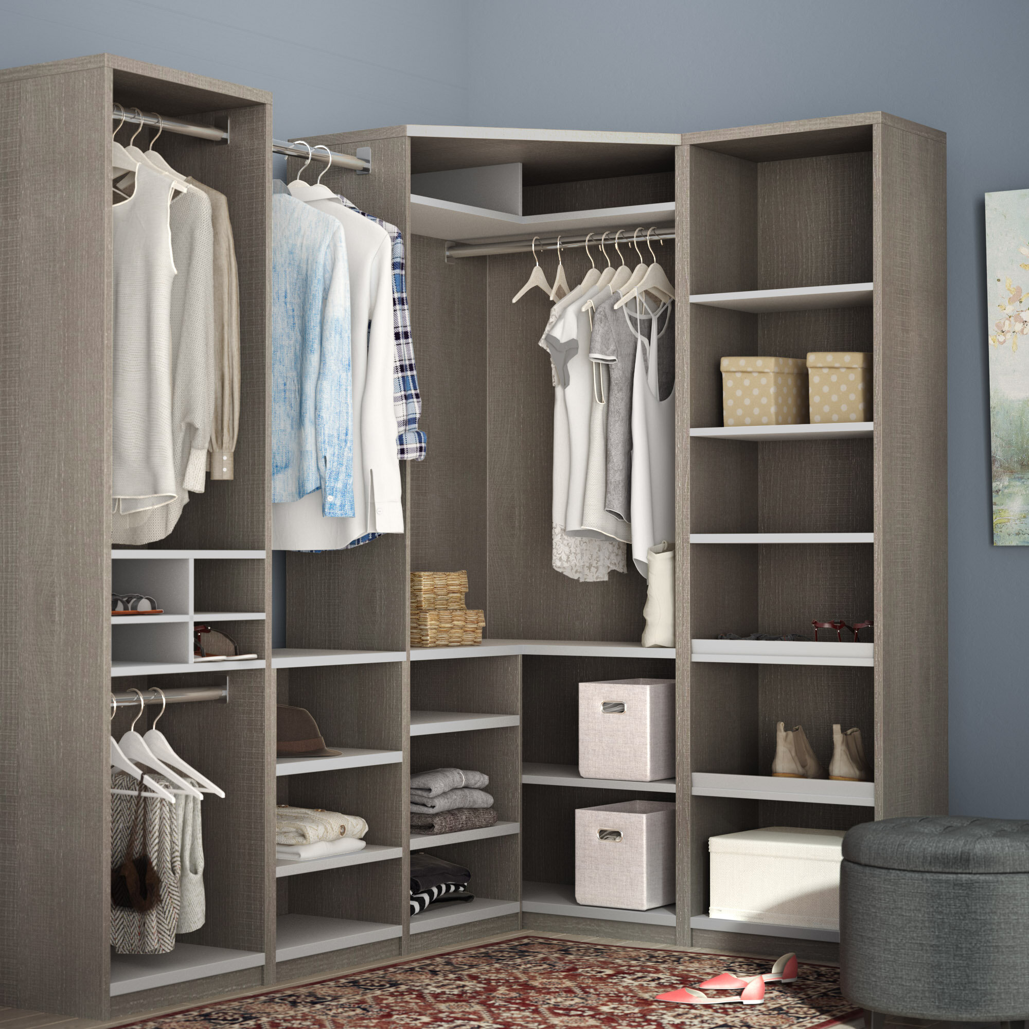 outlet store d46ab df0ad Fresh Walk In Closet Corner Shelves #ZF55 – Roccommunity