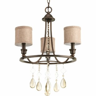 Darby Home Co Citlali 3 Light Wagon Wheel Chandelier