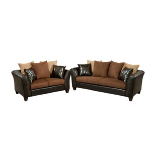 Paleczny Microfiber 2 Piece Living Room Set by Ebern Designs