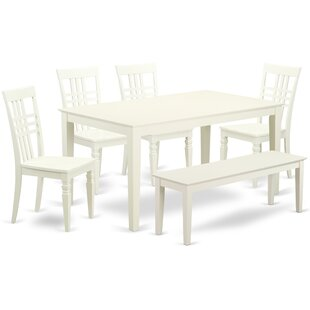 Smyrna 6 Solid Wood Dining Set Charlton Home