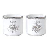 Winter White 2 Piece Porcelain Votive Holder Set (Set of 2) byWedgwood